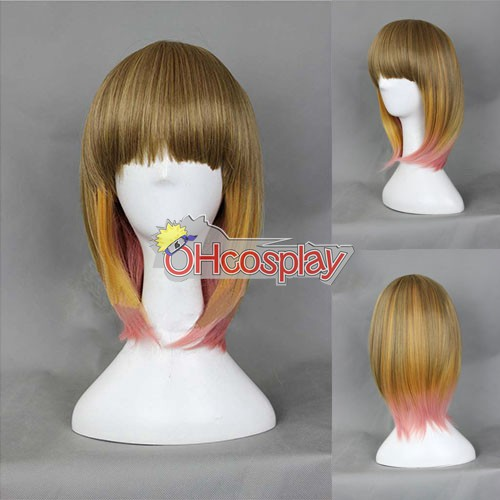 Japan Harajuku Pruiken Series Color Mixing BobHaircut Cosplay Wig - RL034
