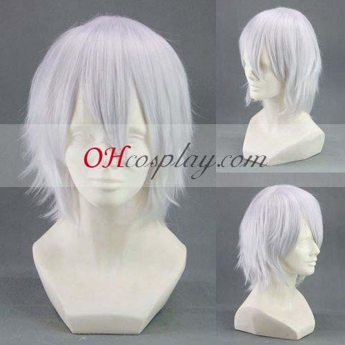 Hiiro не Kakera Yuuichi Комура White Cosplay перука-299AB