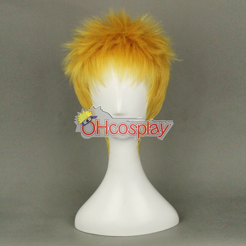 Shingeki no Kyojin (Attack on Titan Fastelavn Kostumer) Reiner Braun Yellow Coplay Wig 320B
