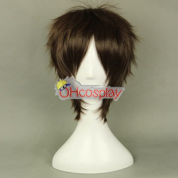 Shingeki no Kyojin (Costumi Carnevale Attack on Titan) Eren Jaeger Black Cosplay Wig 320G