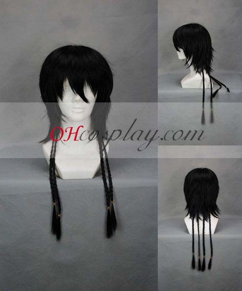 Hitman Reborn! Lambo After 20Y Black udklædning Wig-249A