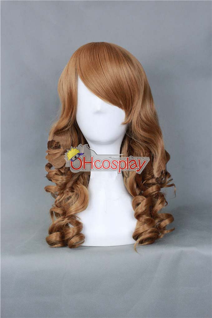 Universal EuropeStyle Red Brown 50cm Wave Wig-324C