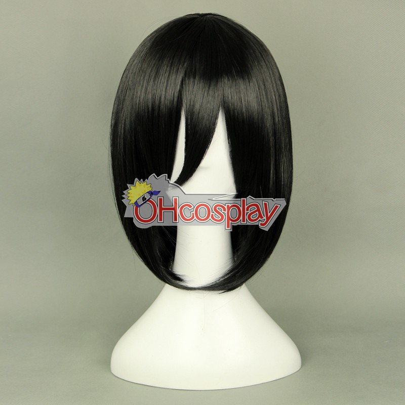 Shingeki no Kyojin (Attack on Titan Kostymer) Mikasa Ackerman Black Coplay Wig 320F