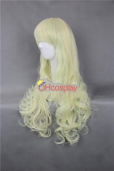 Япония Harajuku Перуки Series Light Yellow женственост Cosplay перука - RL028