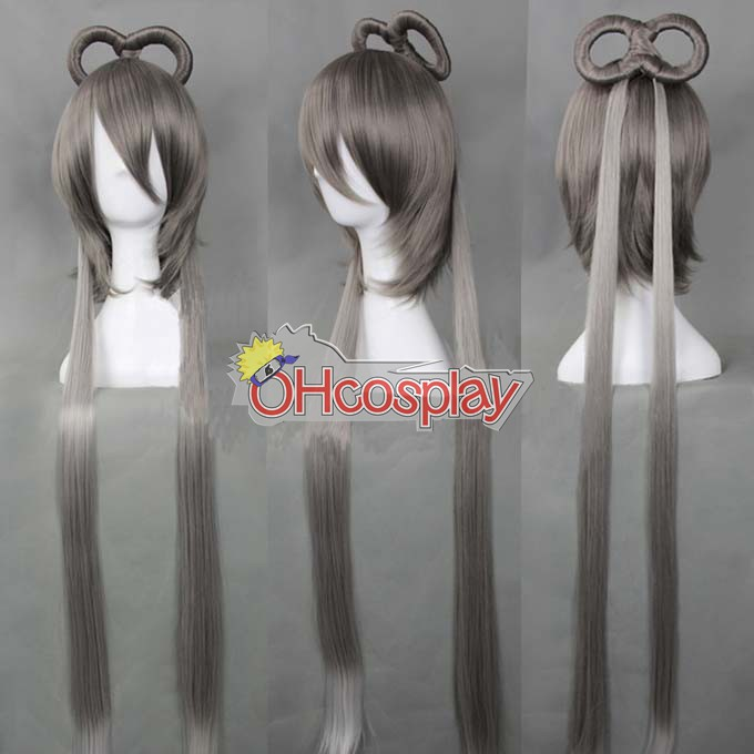 Vocaloid China Project Luo Tianyi Silver Grey udklædning Wig-322A