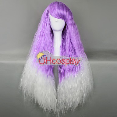 Japan Harajuku Peruukki Series Purple & White Curly Hair Cosplay Wig - RL027C