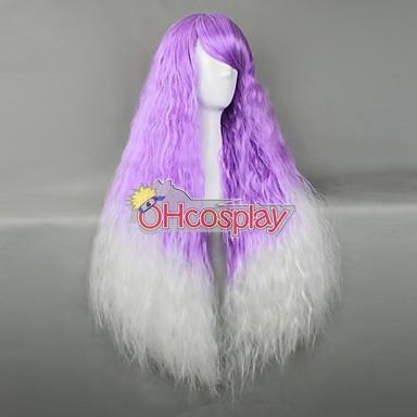 Япония Harajuku Перуки Series Purple & White къдрава коса Cosplay перука - RL027C