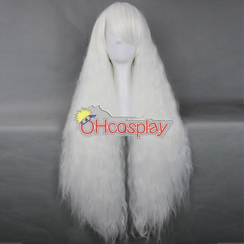 Japan Harajuku Pruiken Series White Curly Hair Cosplay Wig - RL027B