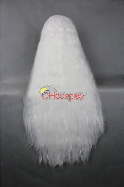 Japan Harajuku Wigs Series White Curly Hair Cosplay Wig - RL027B