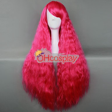 Japan Harajuku Peruukki Series Rose Red Curly Hair Cosplay Wig - RL027A
