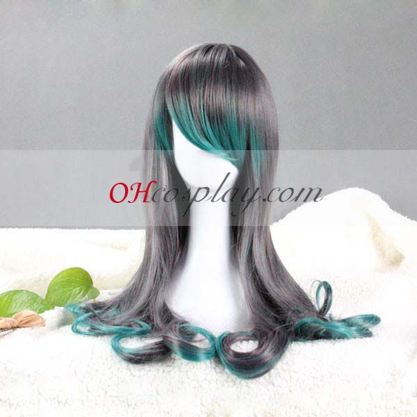 Japan Harajuku Perücken Series Gray & Grün Cosplay Kostüme Wig-RL013