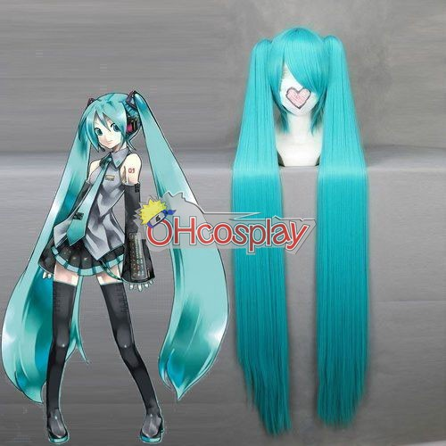 Vocaloid Project Diva Miku Cosplay Wig(042A) + Hairpins