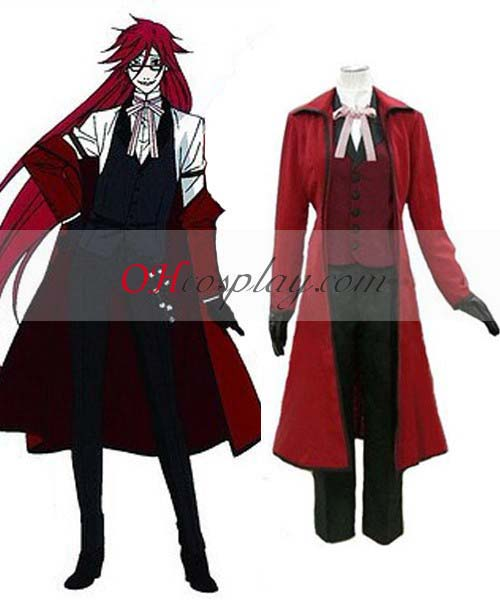 Black Butler Costumes Grell Sutcliff (Red Butler) Cosplay Costume