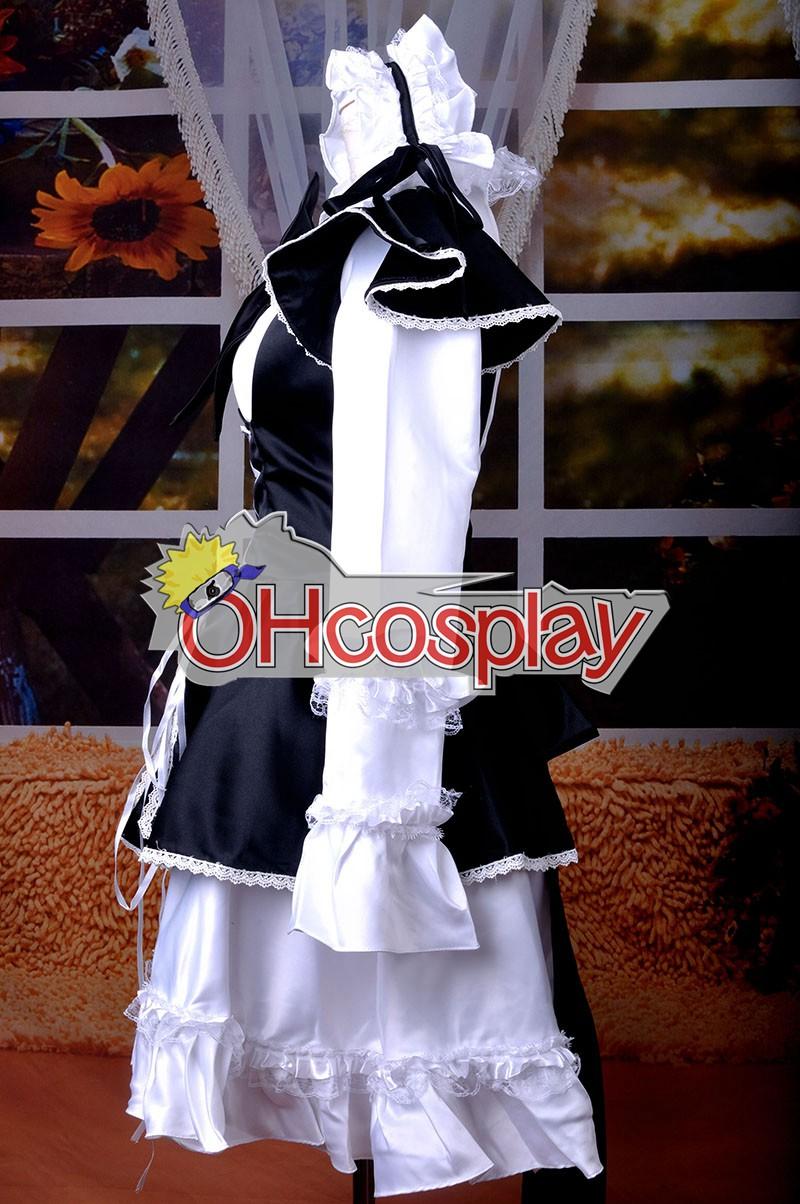 Maid Черно Лолита рокля Cosplay костюми