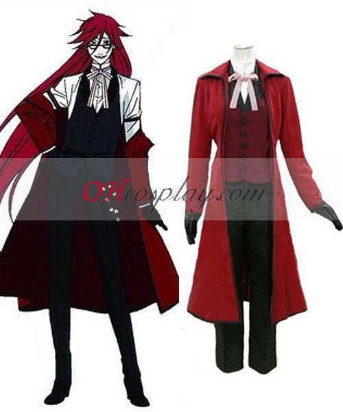 Черно Бътлър костюми Grell Sutcliff (Red Butler) Cosplay костюми