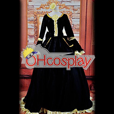 Vocaloid Rin Black Dress Cosplay Kostymer Deluxe Version