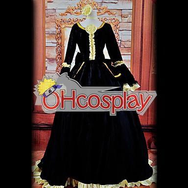 Vocaloid Rin черна рокля Cosplay костюми Deluxe Version