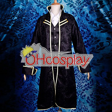 Vocaloid Len Black Uniform Cosplay Karneval Kläder Deluxe Version