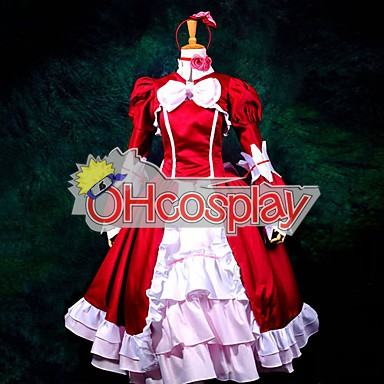 Black Bulter Elizabeth Red Dress Cosplay Kostymer