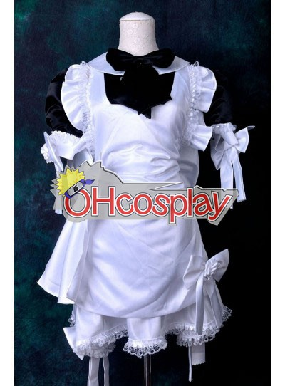 Black & White Maid Dress Cosplay Kostymer