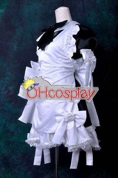 Черно & White Dress Maid Cosplay костюми