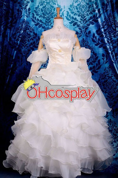 Code Gaess Euphemia Li Britannia Wedding Dress Cosplay Kostymer