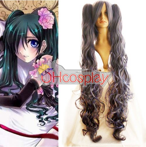 Vampire Knight Jelmez Kuran Yuuki Wine Red Cosplay Wig-008C