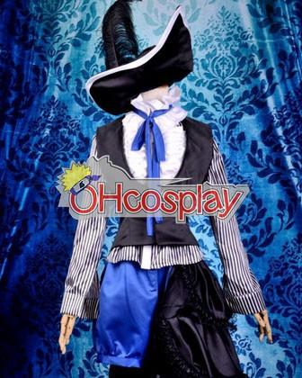Черно Bulter Ciel Тъмно Circus Uniform Cosplay костюми