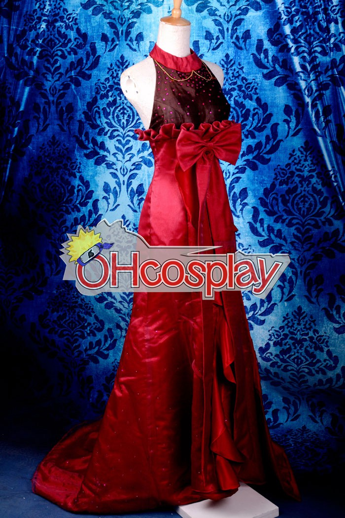 Macross Frontier Costumes Sheryl MF Sheryl Nome Red Formal Dress Cosplay Costume Deluxe