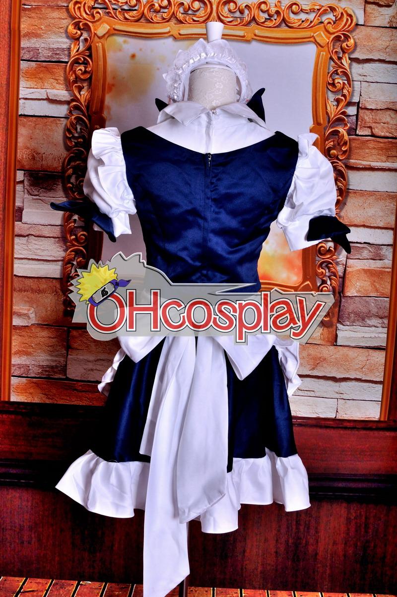 Touhou проекта костюми Izayoi Sakuya Maid Cosplay костюми Deluxe Version