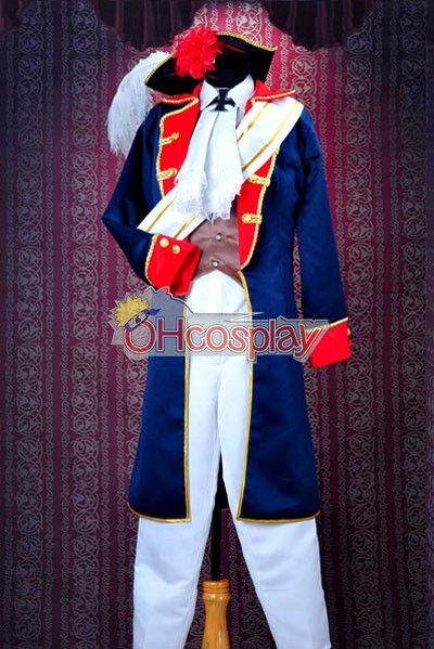 Axis Powers Hetalia Cosplay Prussia War Uniform Cosplay Costume Deluxe Version-Y203