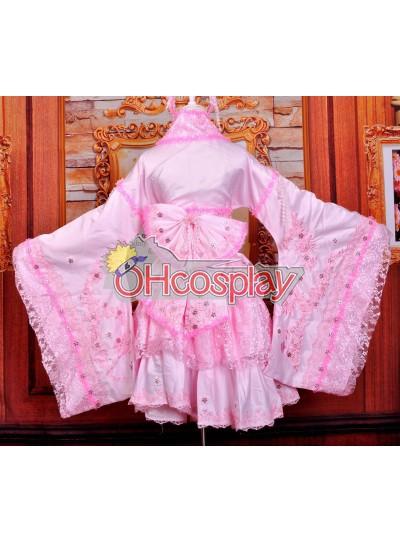 Ruler Pink Cherry Blossoms Кимоно Cosplay костюми