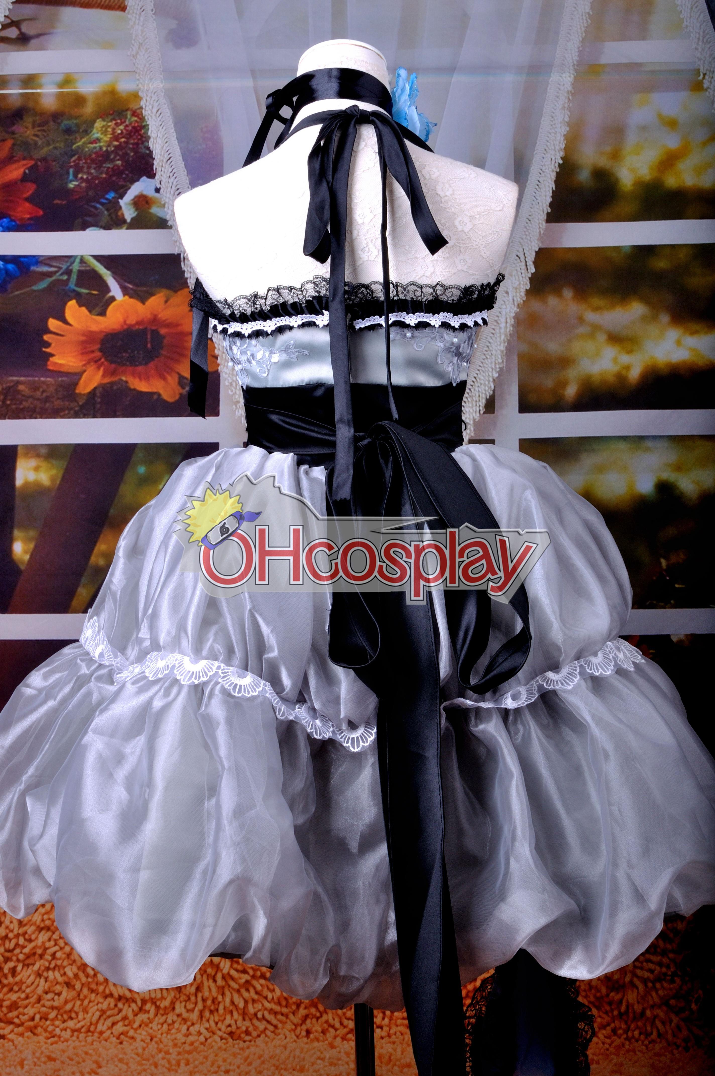 Ruler Vocaloid Miku сребриста Grey Dress Cosplay Anime Костюми