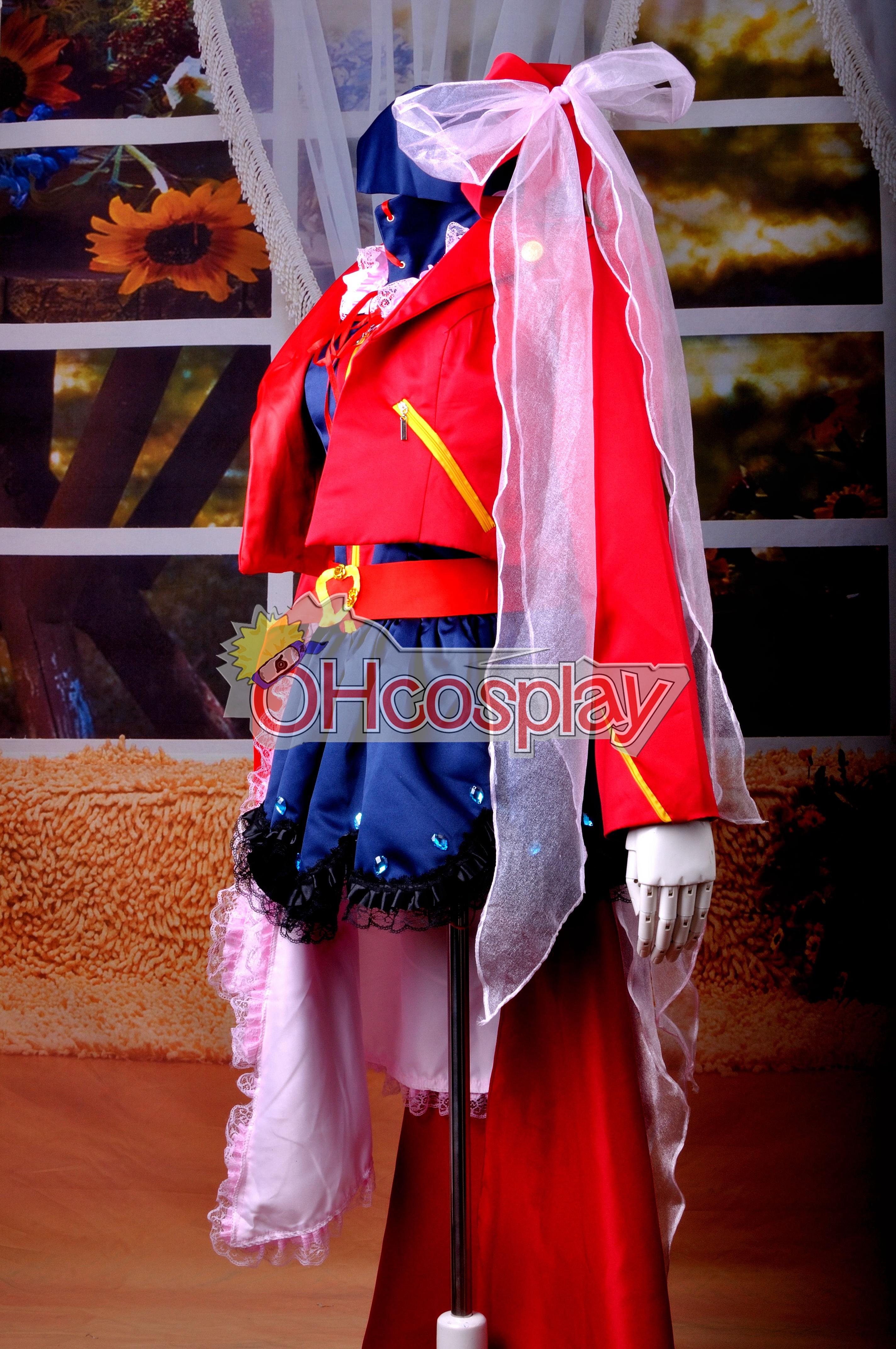 Macross Frontier костюми Sheryl Nome желанието на Valkyria Ver. Cosplay костюми Deluxe