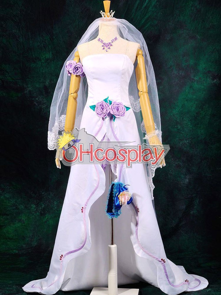 Macross Frontier Costume Sheryl Wedding Dress Cosplay Costume Deluxe-P1