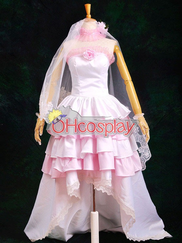 Vocaloid Miku Gorgeous Wedding Dress Lolita Cosplay Karneval Kläder Deluxe-P2