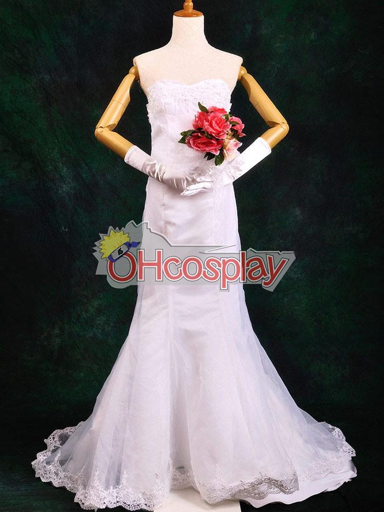 One Piece Fastelavn Kostumer Boa Hancock Wedding Dress udklædning Fastelavn Kostumer Deluxe-P4