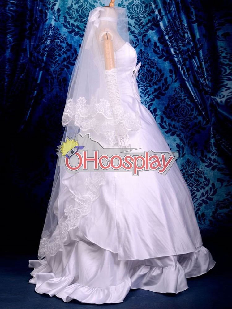 fate stay night costumes saber wedding dress cosplay