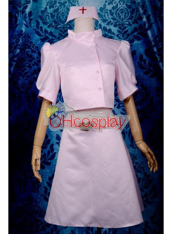 My Little Monster Shizuku Nurse Cosplay Kostymer Deluxe-P7