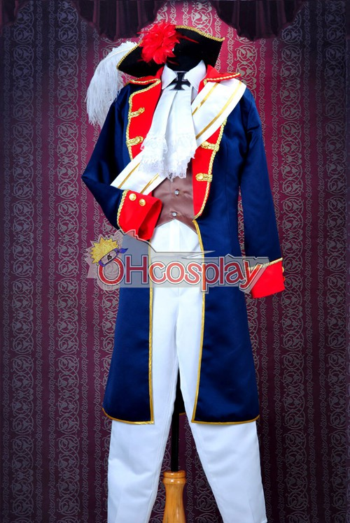 Axis Powers Hetalia Karneval Kläder -Prussia War Uniforms Cosplay Karneval Kläder