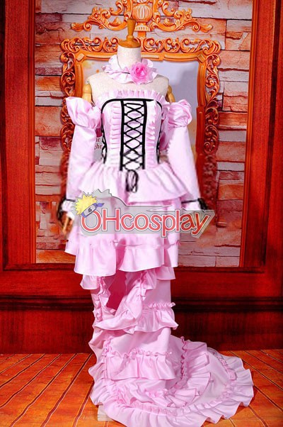 Chobits Kostymer Chii Pink Dress Lolita Cosplay Kostymer ELT0004