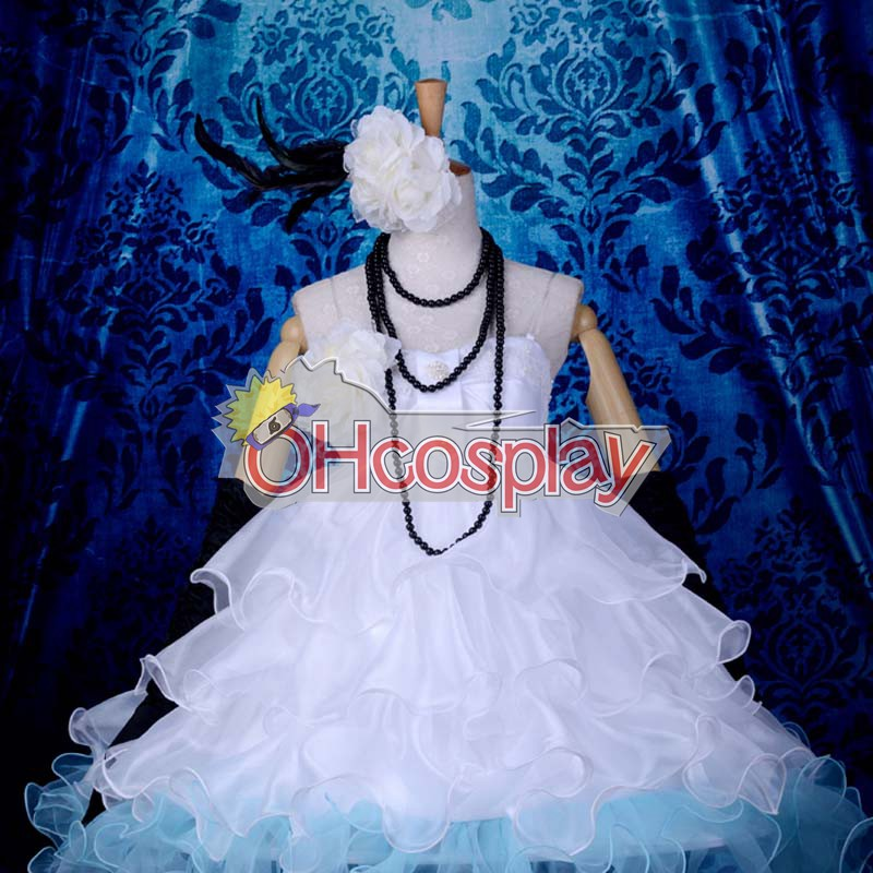 Vocaloid Miku Small White Dress Loita Cosplay Anime Kostymer