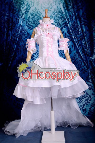 Chobits Kostuums Chii Pink & White Dress Cosplay Kostuums