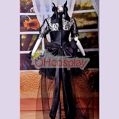Черна рокля Lolita Cosplay костюми