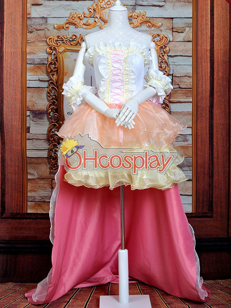 Macross Series MF Ranka Wedding Dress Lolita Cosplay Puku