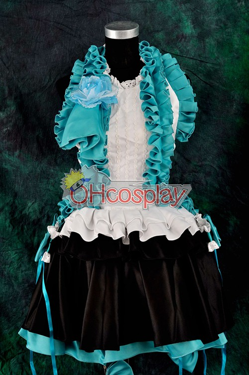Vocalogenesis Blue Gorgeous Dress Lolita Cosplay Karneval Kläder