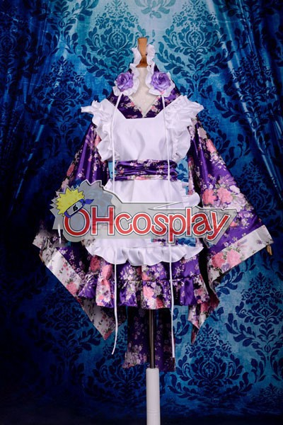 Printing Gorgeous Kimono Maid Clothing/Maid Cosplay Costume