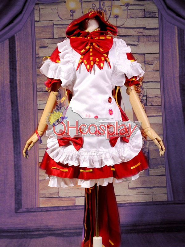 VOCALOID-Miku PROJECT DIVA2 Little Red Riding Hood Cosplay Karneval Kläder