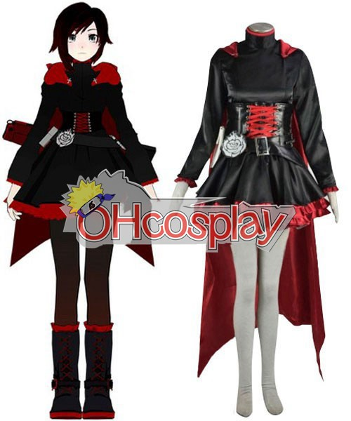 Costumi Carnevale Rwby Red Ruby Rose Cosplay Costume