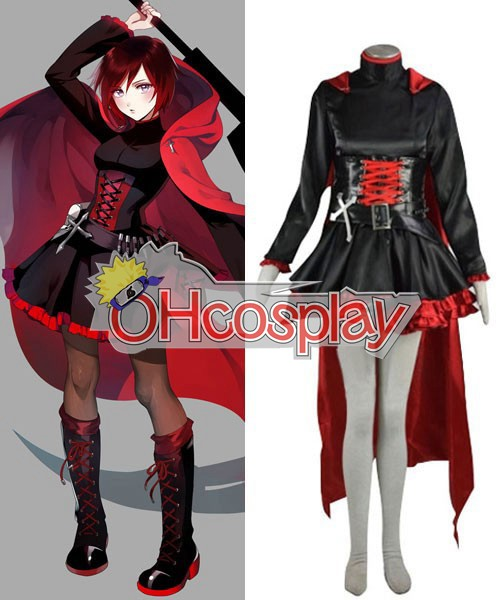 Rwby Kostymer Red Ruby Cross Cosplay Kostymer